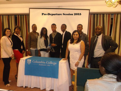 Nichotan hosts Columbia College students' Pre-departure session 2015 at Meikles Hotel Zimbabwe