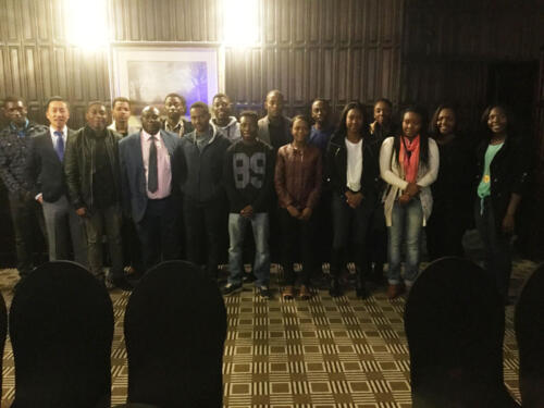 Nichotan hosts a pre-departure session for TRU students at Meikles Hotel Zimbabwe