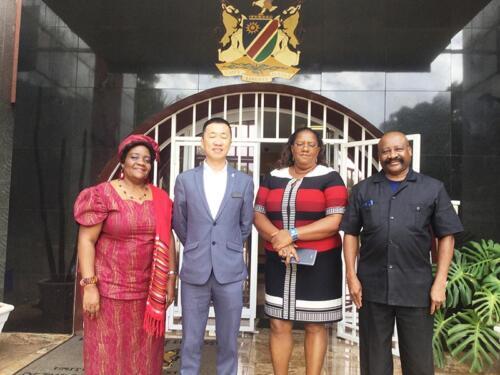 Nichotan introduces Thomson Rivers University to Namibian Embassy Harare Zimbabwe