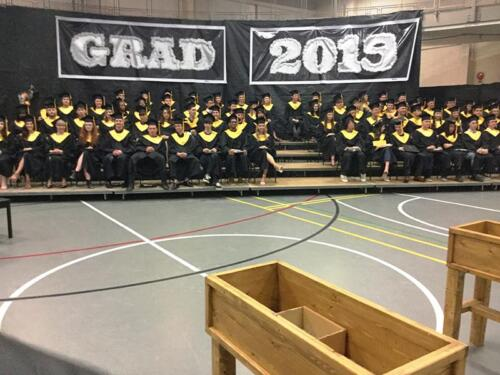 Bright and Eunice attend Drumheller School Graduation in Canada
